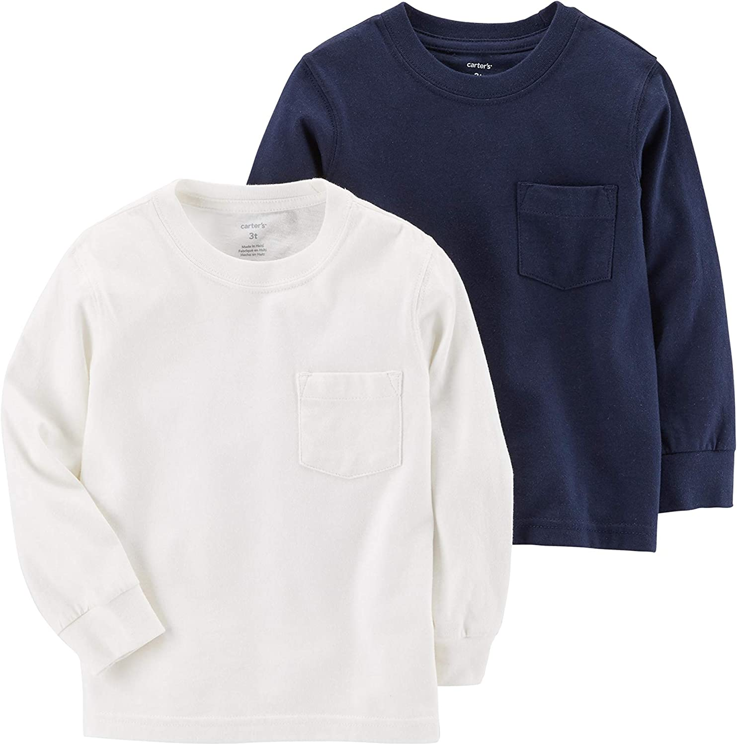 Carters Boy`s Long Sleeve 2-Pack Cotton Undershirts