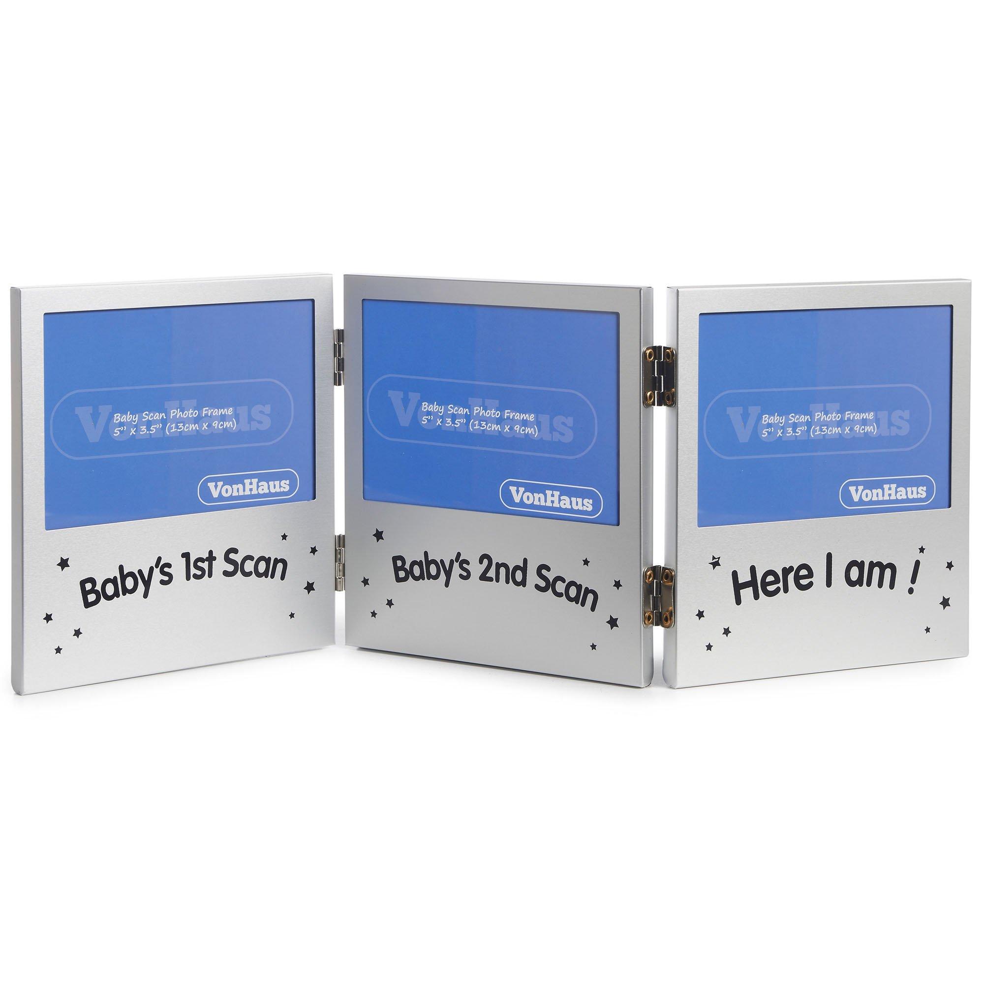 VonHaus Triple Sonogram Picture Frame for Keepsake Ultrasound ...