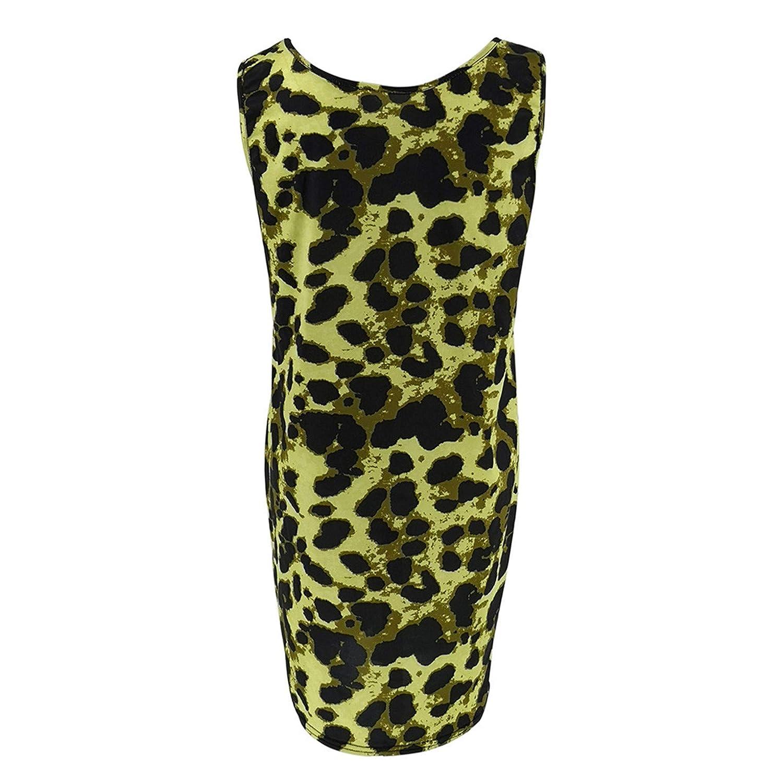 d091097ad2f Amazon.com  Kalinyer Womens Maternity Bodycon Dress Sleeveless Sexy Leopard  Print Knee Length Pregnancy Clothes Tank Dress  Clothing