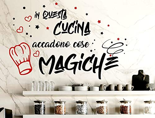 Decorazioni Da Muro Adesive.Adesivi Murali Cucina Frasi Scritte Italiano Wall Stickers