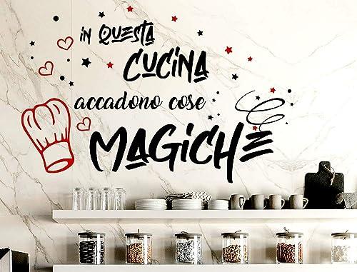 Adesivi Murali Cucina Frasi scritte italiano wall stickers ...