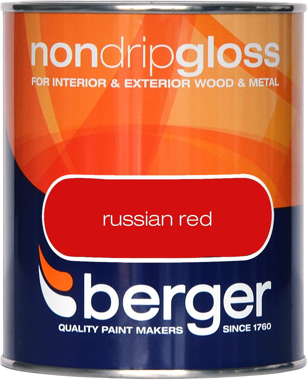 Berger Non Drip Gloss 750ml Russian Red