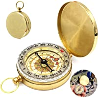 WELLXUNK kompas, navigatie-kompas, draagbaar waterdicht kompas met lichtgevende cijfers, voor kamperen, wandelen en…