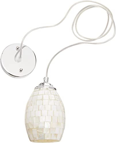 Chloe Lighting CH3CR31CM04-DP1 Ravenna Mosaic 1 Light Mini Ceiling Pendant with Shade, 6.5 x 4.84 x 4.84 , Silver