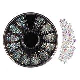 Beauty7 Nail Art Carrousel 3D Strass Dore Bijoux Cristal Pour Decoration Ongles DIY Manucure