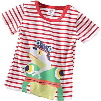 DIGOOD for 0-4 Years Old,Toddler Baby Boys Letter Print Cartoon T-Shirt+Short Pants,Kids 2Pcs Cute Outfits Clothes Sets