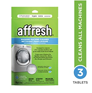 GENUINE Whirlpool - Affresh High Efficiency Washer Cleaner, 3-Tablets, 4.2 Ounce