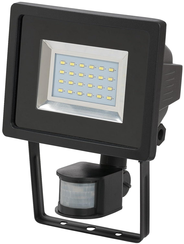 Brennenstuhl SMD-LED-Leuchte / LED Strahler mit Bewegungsmelder (Außenstrahler zur Wandmontage IP44, LED Fluter mit 24 hellen SMD-LEDs) Farbe: weiß 1179280220