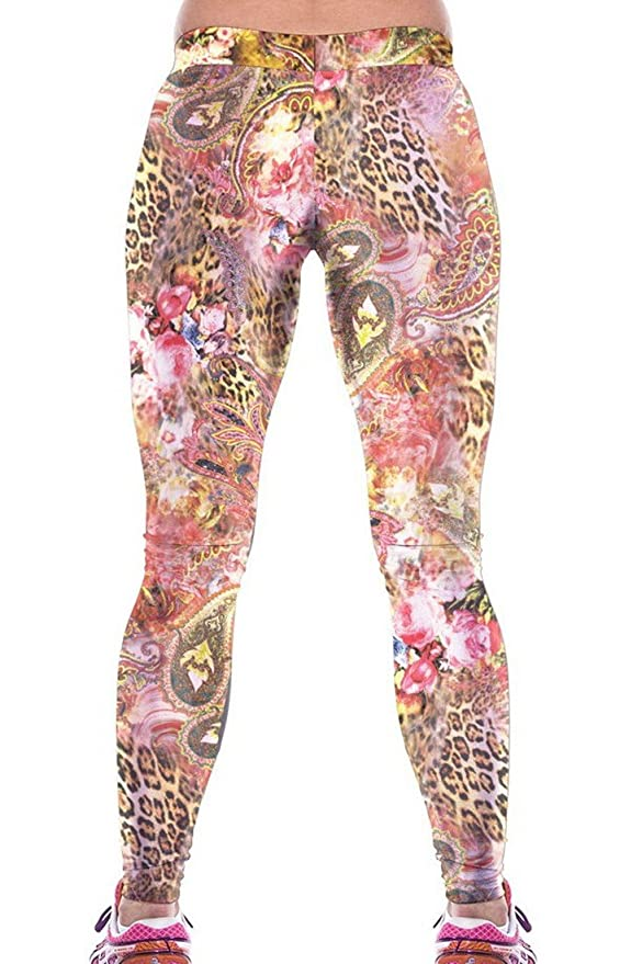 9a0a2550cc722 Amazon.com: RedBeana Women Pastel Paisley Print Workout Yoga Leggings Tight  Pants Multi Color One Size: Clothing
