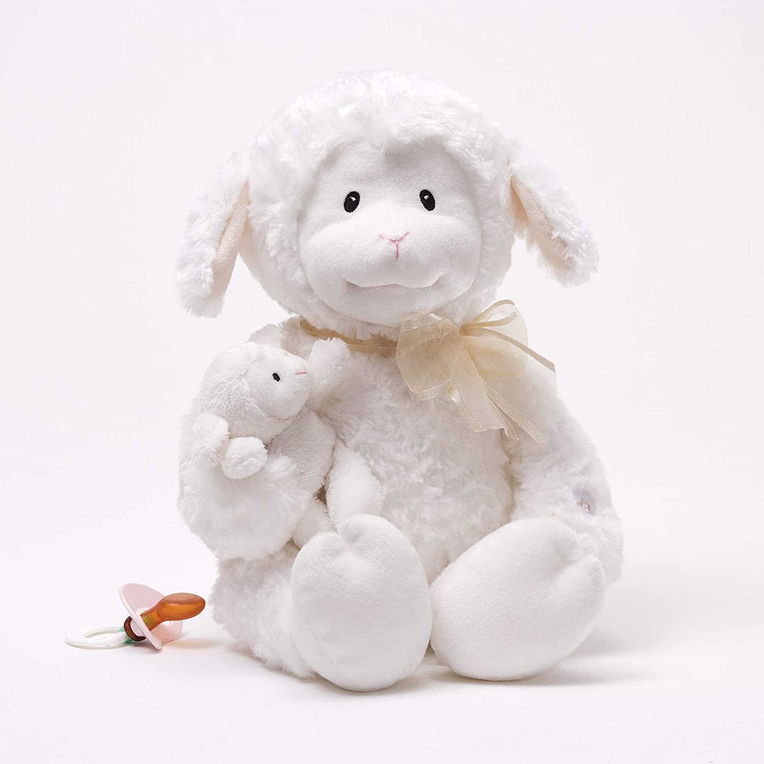 White 10 10 Rejects from Studios 320629 GUND Nursery Rhyme Time Lamb Animated Stuffed Animal Plush