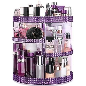 Amazon.com: Organizador de maquillaje Awenia con rotación de ...