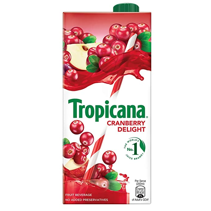 Tropicana Cranberry Delight Fruit Juice , 1000ml