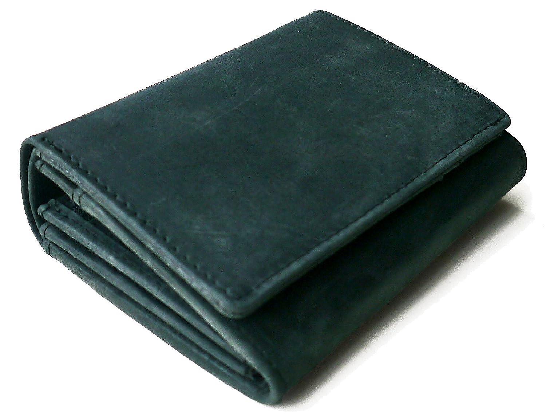 【Hallelujah】名入れ可 牛革 二つ折り財布 カード9枚収納 大容量 本革 レザー 革 かわいい シンプル メンズ レディース 本皮 B07CPKCVNF  Dark-green