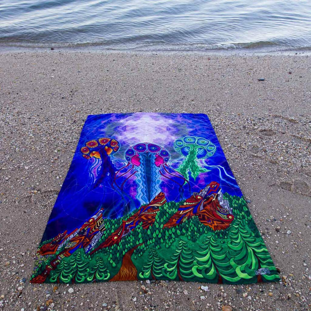"""Wildlife Art Tapestry Third Eye Tapestries /""""Jellyfish/"""" Wall Tapestry by Phil Lewis Hanging Modern Art Tapestry"""