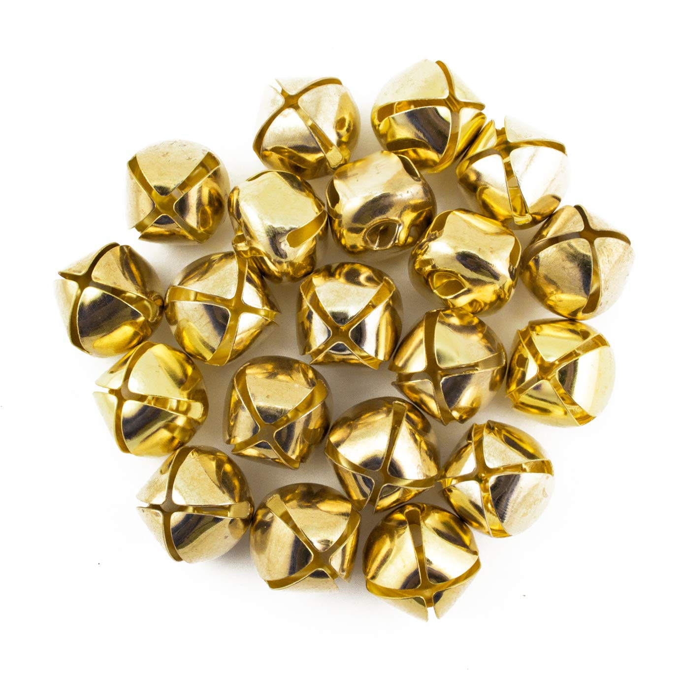 Aplus SHOP Small Jingle Bell 10MM Christmas DIY Craft Bells Gold Metal Mini Bell for Children Birth Party Wedding Jewellery Decoration Charm 100PCS