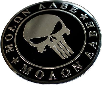 2nd Amendment METAL Auto Emblem US shaped