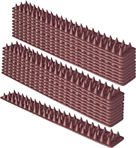 Defender Spikes, Upgraded Cat, and Small Animals Repellent Fence Spikes-Protect Your Sofa, Garden, Outdoor Walls, 20 Pack-20FT