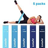 Letsfit Exercise Bands Resistance Loop Bands for Women Fitness Rehabilitation Body Shaping Weight Loss Yoga Fitness Resistance Band Blue series