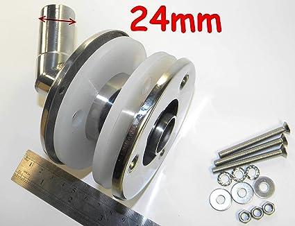 exhaust fitting 24mm to Webasto Eberspacher Straight stainless steel thru hull