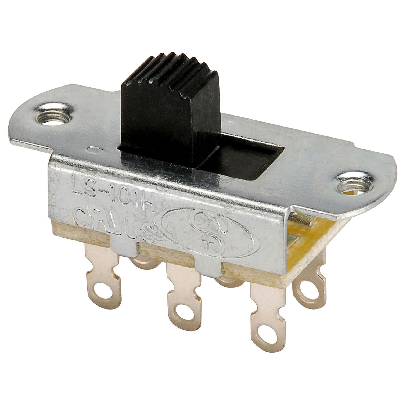 Amazon.com: NTE Electronics 54-667 Slide Switch, DPDT Circuit, 6 ...