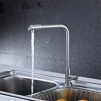 Tradition Kitchen Sink Faucet For Cold Water Stainless Steel Kitchen Mixer Taps Brushed Sink Faucet Sink Mixer With Rotating Spout Only Cold Water Faucet Amazon Com