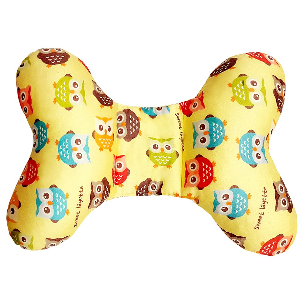 Sweet Layette Baby Head and Neck Support Pillow (Yellow)