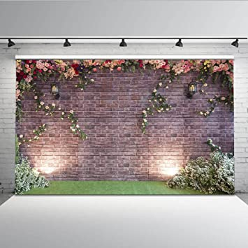 Mehofoto Brick Wall Fotografie Hintergrund 7 X 150 Blume Hintergrund  Nahtlos Hochzeit Party Dekoration Foto Studio