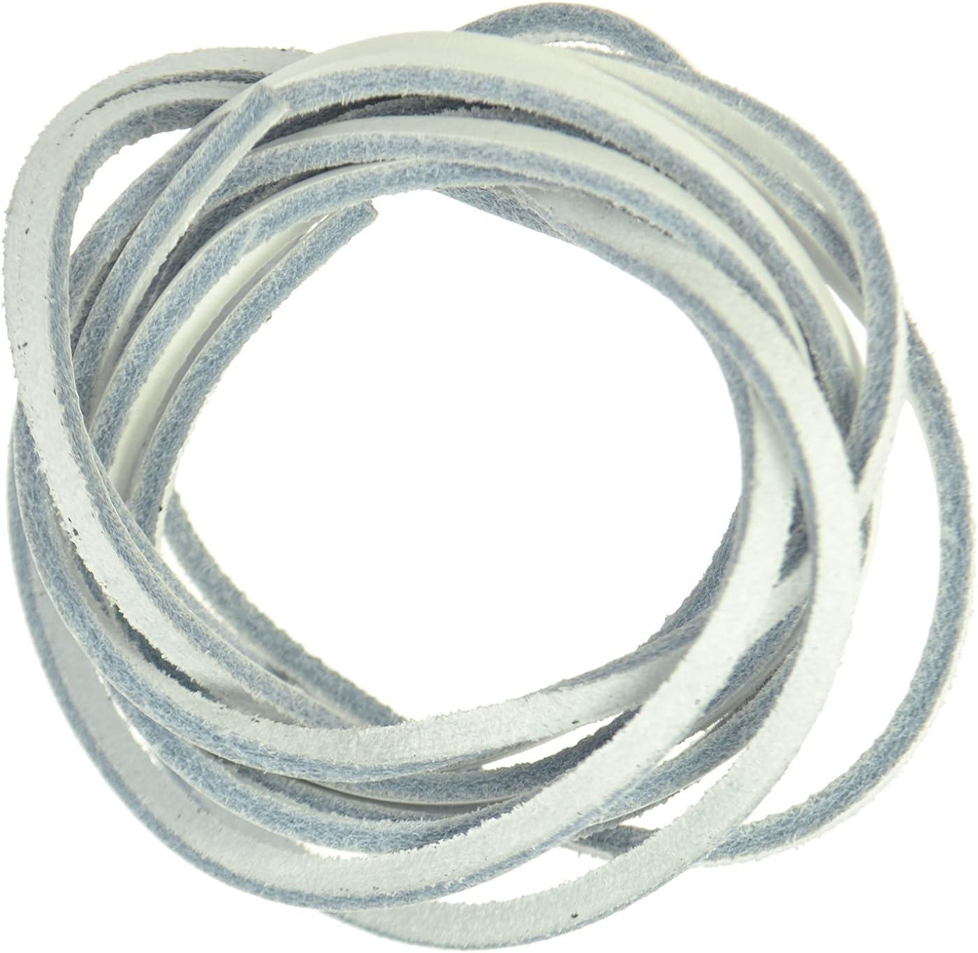 Leather Shoe Laces - White: Amazon.co