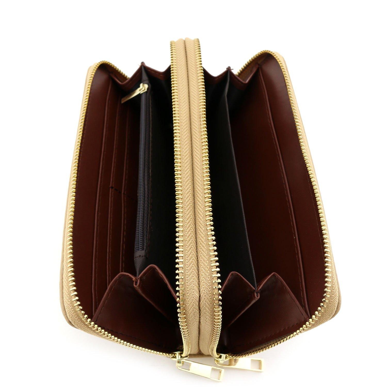 Double Zip Around Wristlet Wallet Tan by Alyssa (Image #4)
