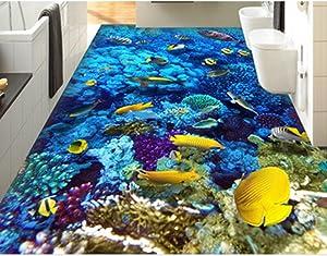 ZaH Thin 3D Area Rug Non-Slip Doormat Carpet Printing Rug for Living Room, Bedroom, Kitchen, Bathroom (5x7-63