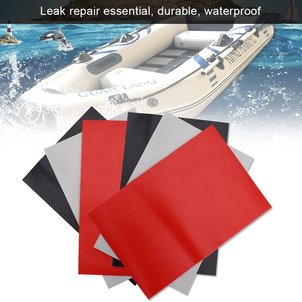 Vbestlife 6pcs Patches Raft Patch Repair Patches Accessory Fit for Inflatable Raft Boat Canoe Kayak Sup Zodiac PVC Inflatable Repair Rafts Rubber