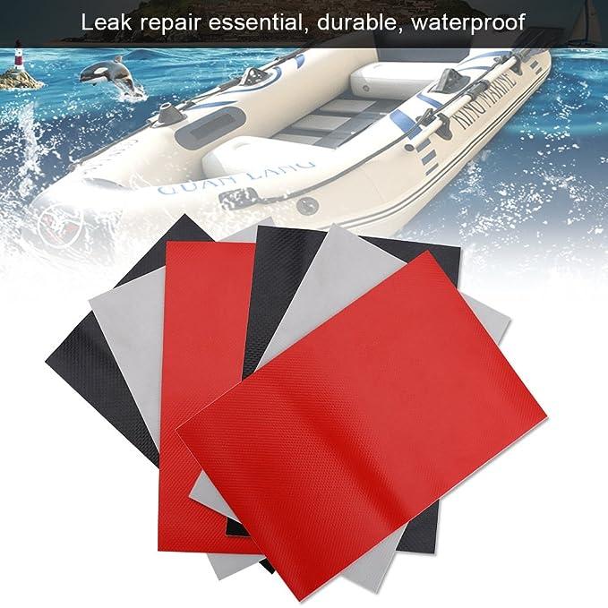 VGEBY Kit de reparación de embarcaciones 3 Piezas con Parches de PVC Set Accesorio para Kayak de Barcos inflables