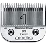Andis 64465 CeramicEdge Carbon-Infused Detachable Clipper Blade, Size 1, 3/32-Inch Cut Length