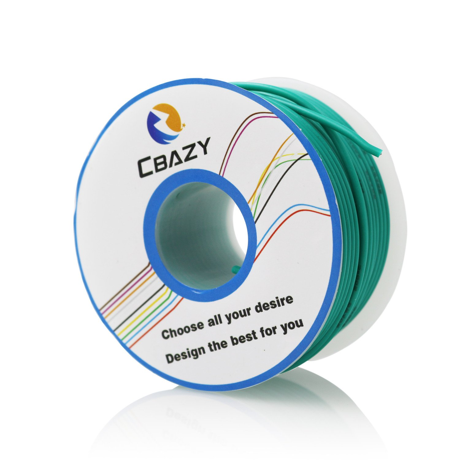 CBAZY™ Hook up Wire (Stranded Wire) 22 Gauge Flexible Silicone Wire 22AWG 25M (82 Feet) Electrical Wire Green by CBAZY (Image #1)
