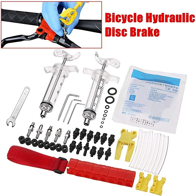 Professional Bicycle Brake Bleed Kit For Mineral Oil Hydraulic Magura Tektro US