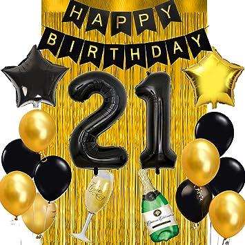 21st Birthday Decorations Kit