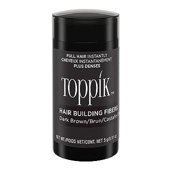 Toppik Fibras Capilares Castaño Oscuro, Fibras de Queratina para Crear más Densidad en el Cabello de Forma Inmediata, 3 g: Amazon.es