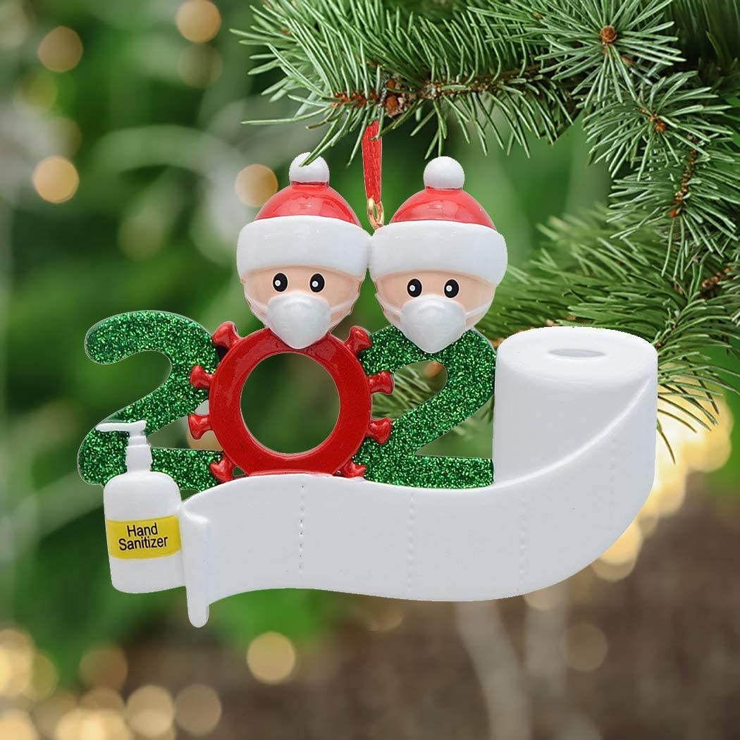 amazon com personalized quarantine family 2020 christmas ornament family of 2 gifts for grandkids co workers friends we customize for you family of 2 kitchen dining personalized quarantine family 2020 christmas ornament family of 2 gifts for grandkids co workers friends we customize for you family of 2