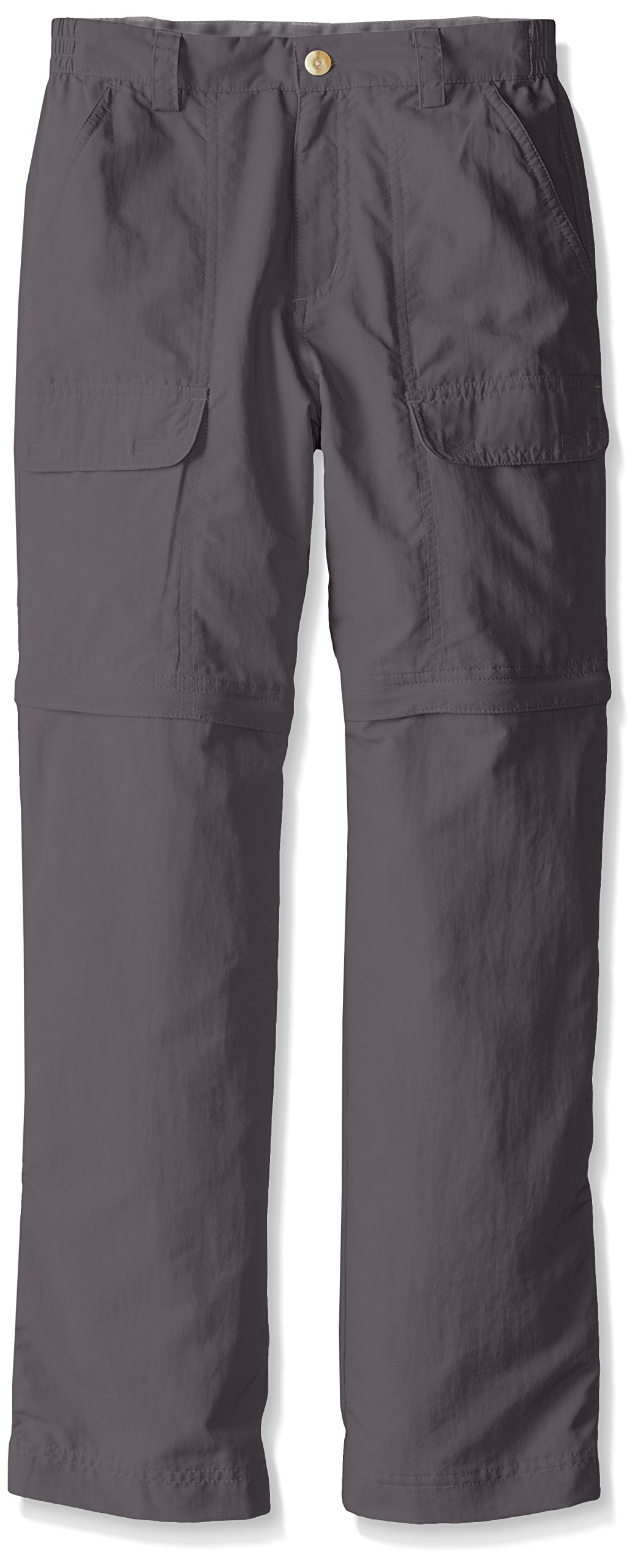 White Sierra Youth Trail Convertible Pants, Castle Rock, Medium