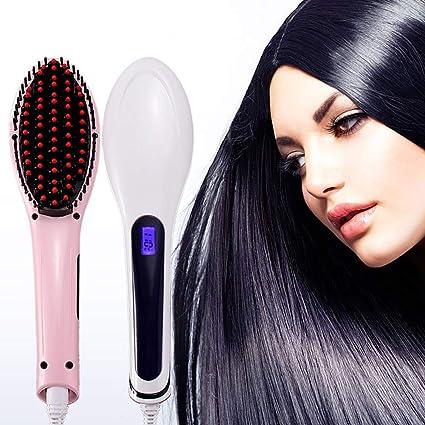 Cepillo alisador calentado iónico Cepillo para alisar el cabello ...