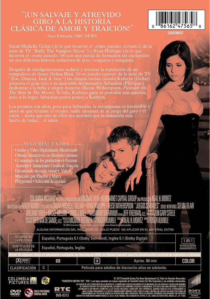 Amazon.com: JUEGOS SEXUALES [CRUEL INTENTIONS] [NTSC/Region 4 dvd. Import - Latin America].: Movies & TV