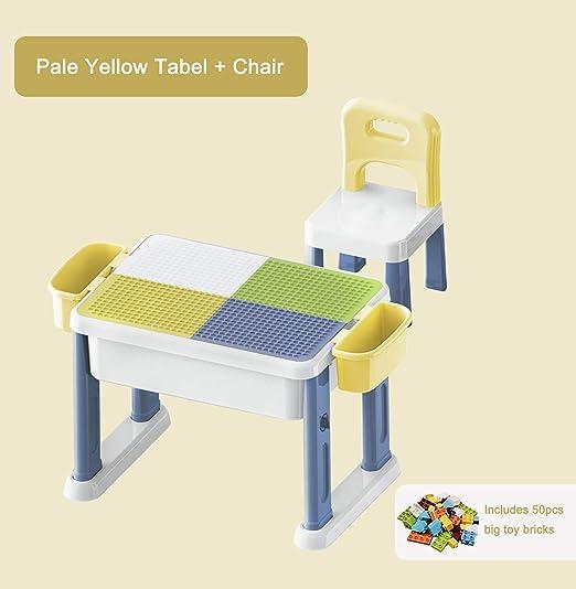 Kebo - Juego de Mesa y Silla de plástico Multifuncional para niños ...