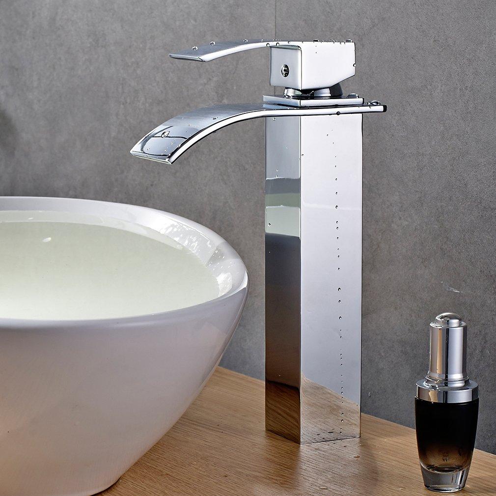 Auralum® Auralum® Auralum® Diseño verlängerte grifo grifo cascada Monomando para baño habitaciones 76bbdc