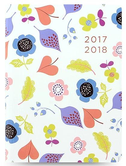 Letts A6 blanco Woodland diseño floral brillante agenda ...