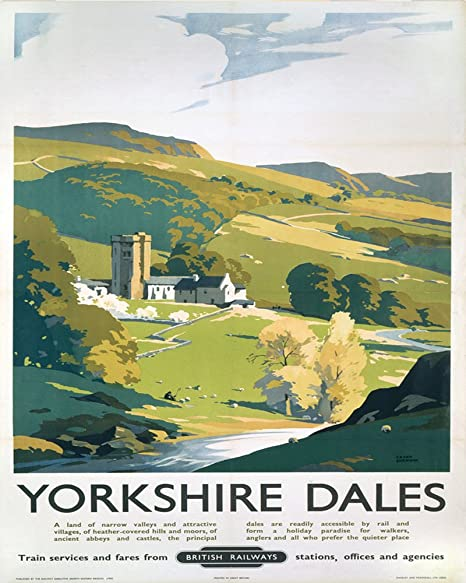Yorkshire dales sign METAL Wall Sign 6x8inches Plaque Vintage Retro ...