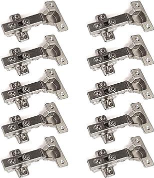 """10 x SO-TECH/® Bisagra /""""T45/"""" Cobertura Total con Amortiguador Placa de Montaje disponible como set de 10, 20 y 30!"""