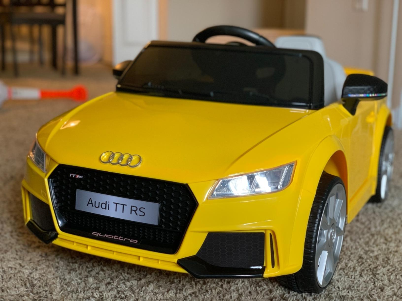 Audi TT RS Ride On Car For Kids With Remote Control, Yellow photo review