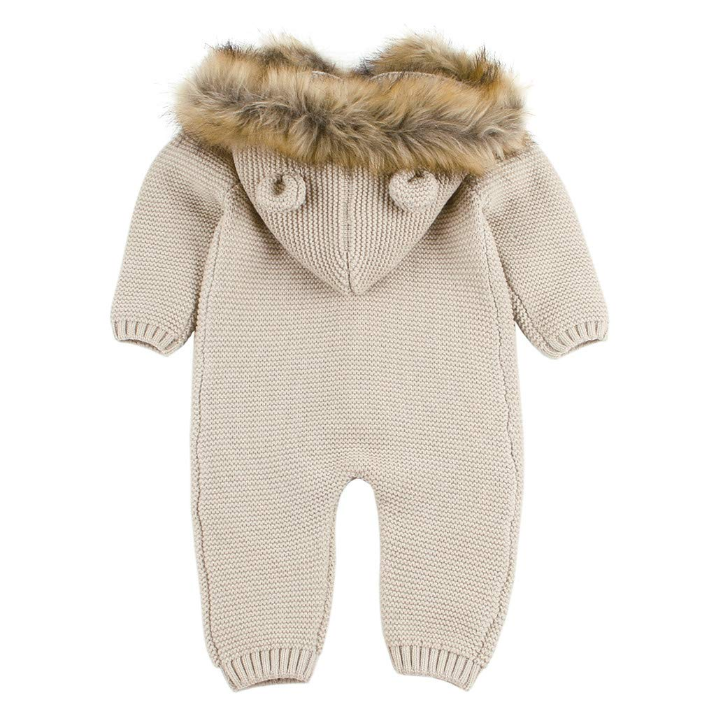 ZEFOTIM Unisex Baby Long-Sleeve Romper 2019 Newborn Infant Baby Boy Girl Knitted Winter Romper Jumpsuit Outfits Clothes
