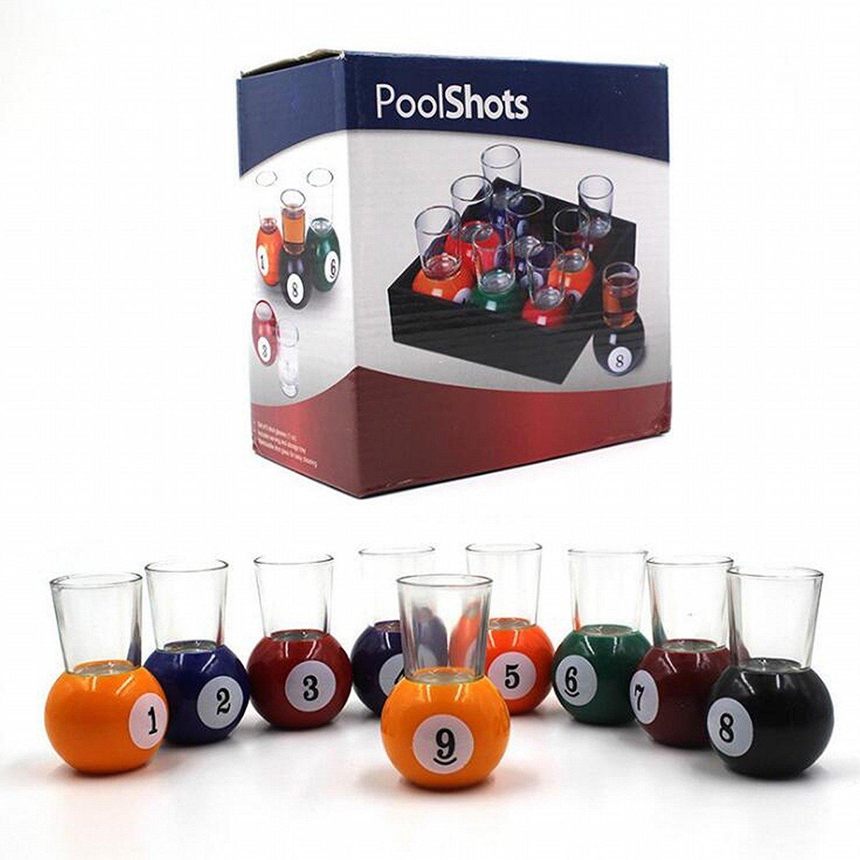 bonzeal Juego de 9 Multicolor Base de bolas de billar piscina Bar ...