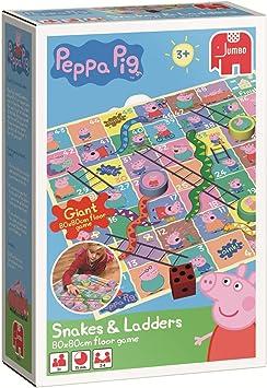 Disney Peppa Pig - Juego de Mesa de Serpientes y escaleras: Amazon.es: Juguetes y juegos